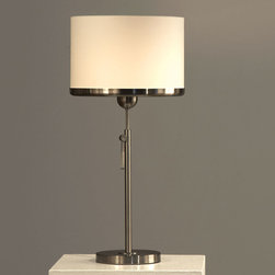 NOVA Lighting - Brim Table Lamp - White - New Nova Brim floor lamp, adjustable height, on/off touch. Beautiful clean design fits many dcor styles. Great addition to any space.