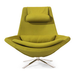 Kardiel - Kardiel Retropolitan Modern Lounge Wing Chair, Deco Moss Cashmere Wool - A design theme is built around one or two conceptually solid objects and moves outward with complimentary pieces as supporting elements. The conceptually solid objects are often physically larger pieces. The strong period correct visual allows the Retropolitan to be utilized as the cornerstone of modernism themes. Retropolitan pop art design is more than a foundation for mid-century modern themes. A conversation piece for certain but function is not a second priority. This chair is comfortable for everyday seating use. Smooth multidensity foam wraps its fiberglass frame. The Retropolitan Wing chair features a period correct 4 star Stainless Steel base with 360 degree swivel. From the inner cushion to the outer stitching, the chair is crafted by hand.