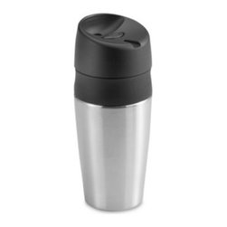 Oxo - OXO Good Grips LiquiSeal Stainless Steel Travel Mug - Make your morning commute spill-free with the OXO Good Grips LiquiSealTravel Mug! One simple click keeps hot coffee in the cup and off your lap or desk.