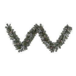 Vickerman 9 ft. Frost White Mix Tip Pre-Lit Garland