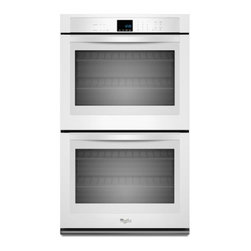 "Whirlpool - WOD51EC7AW 27"" Double Electric Wall Oven With 4.3 Cu. Ft. Per Oven  Self-Cleanin - The Whirlpool WOD51EC7A features a great43 cu ft capacity This Double Wall Oven will satisfy your every need With SteamClean option you wont have to worry about cleaning this oven very often This oven is a must have and it also looks great"