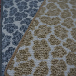Animal Print Carpet, Rugs & Runners - New arrival!  Made of nylon.  Offered for wall to wall installation, area rugs and stair runners.  Purchase at Hemphill's Rugs & Carpets Orange County, CA www.RugsAndCarpets.com