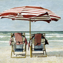 """Attitude Adjustment"" - The perfect day at the beach. Kick back and enjoy ""Attitude Adjustment""! Available as a hand embellished giclee or a lithograph."
