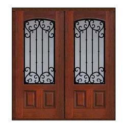 """Prehung Double Door 80 Fiberglass Valencia Arch Lite Wrought Iron - SKU#MCT06WV_WFAV2BrandGlassCraftDoor TypeExteriorManufacturer CollectionArch Lite Entry DoorsDoor ModelValenciaDoor MaterialFiberglassWoodgrainVeneerPrice3540Door Size Options2(32"""")[5'-4""""]  $02(36"""")[6'-0""""]  $0Core TypeDoor StyleDoor Lite StyleArch LiteDoor Panel Style2 PanelHome Style MatchingDoor ConstructionPrehanging OptionsPrehung , ImpactPrehung ConfigurationDouble DoorDoor Thickness (Inches)1.75Glass Thickness (Inches)Glass TypeDouble GlazedGlass CamingGlass FeaturesTempered glassGlass StyleGlass TextureClear , rain , FlutedGlass ObscurityNo Obscurity , Highest Obscurity , High ObscurityDoor FeaturesDoor ApprovalsTCEQ , Wind-load Rated , AMD , NFRC-IG , IRC , NFRC-Safety GlassDoor FinishesDoor AccessoriesWeight (lbs)603Crating Size25"""" (w)x 108"""" (l)x 52"""" (h)Lead TimeSlab Doors: 7 Business DaysPrehung:14 Business DaysPrefinished, PreHung:21 Business DaysWarrantyFive (5) years limited warranty for the Fiberglass FinishThree (3) years limited warranty for MasterGrain Door Panel"""