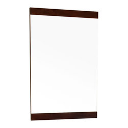 """Bellaterra Home - 19.7 Inch Mirror-Dark Walnut-Wood - Simple wood frame mirror, finished with walnut finish, sealed with 7 layers of protective sealant to ensure water proof surface. The mirror a high quality 0.6"""" thick mirror prevent rusting against bathroom, and it comes with all mounting hardware."""
