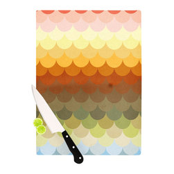 """Kess InHouse - Danny Ivan """"Half Circle Waves Color"""" Cutting Board (11.5"""" x 15.75"""") - These sturdy tempered glass cutting boards will make everything you chop look like a Dutch painting. Perfect the art of cooking with your KESS InHouse unique art cutting board. Go for patterns or painted, either way this non-skid, dishwasher safe cutting board is perfect for preparing any artistic dinner or serving. Cut, chop, serve or frame, all of these unique cutting boards are gorgeous."""