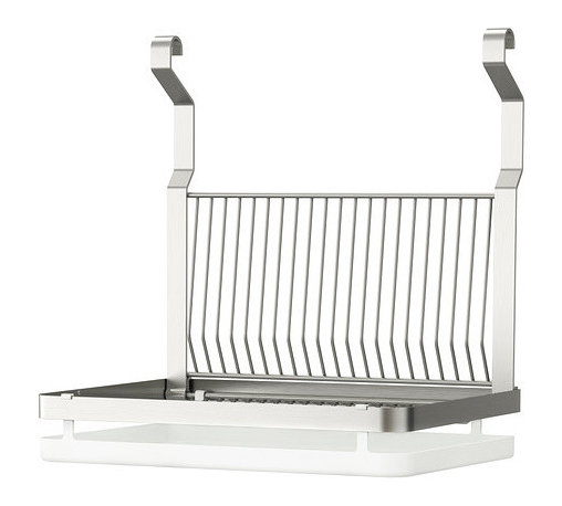 Grundtal Dish Drainer - In case your version of modern means old-school technology (and by that I mean no dishwasher), this stainless steel dish drainer is for you.