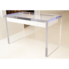 Magnificent Large Lucite Desk with Drawers at 1stdibs