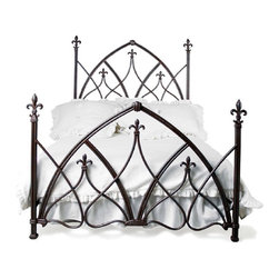 corsican - Custom Gothic Night Bed, Queen - Corsican has been in business over 40 years. Their entire focus is making wrought iron furniture. Many of their skilled craftsman are second generation.