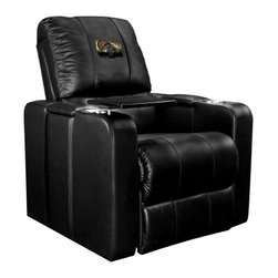Dreamseat Inc. - Turkey Home Theater Plus Leather Recliner - Check out this Awesome Leather Recliner. Quite simply, it's one of the coolest things we've ever seen. This is unbelievably comfortable - once you're in it, you won't want to get up. Features a zip-in-zip-out logo panel embroidered with 70,000 stitches. Converts from a solid color to custom-logo furniture in seconds - perfect for a shared or multi-purpose room. Root for several teams? Simply swap the panels out when the seasons change. This is a true statement piece that is perfect for your Man Cave, Game Room, basement or garage. It combines contemporary design with the ultimate comfort from a fully reclining frame with lumbar and full leg support.
