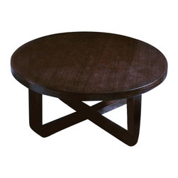 Beverly Hills Furniture Inc. - Olive Round Coffee Table - Elegant wooden table with round top is this pre-assembled Olive Round Coffee Table - Beverly Hills Furniture Inc. It is available in Teak or Wenge finish. It is that modern style, which never goes out of fashion - beautiful pieces like this become classical.