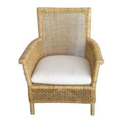 Rattan Lace Arm Chair - $400 Est. Retail - $250 on Chairish.com -