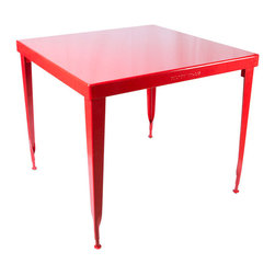 Dulton - Standard Square Table, Red - The Dulton square table is your solid friend