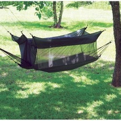 "Texsport Wilderness Portable Hammock - For those camping trips in the wilderness, you want to make sure your protected from pests -- especially when relazing. That's where the Texsport Wilderness Portable Hammock comes in. This durable hammock offers supreme comfort within while keeping bugs out. Connects easily to trees.About TexsportWith a tagline of """"Authentic Adventure Gear,"""" Texsport lives up to its name and its mission. The company has been creating top notch camping and outdoor recreational equipment for the past 40 years, and within its repertoire includes some of the finest hammocks and hammock stand sets you can find anywhere. With features like """"no-see-um"""" cotton mesh netting, fire-retardant nylon material and more, rest assured you'll enjoy your Texport product in whatever adventure you next find yourself."