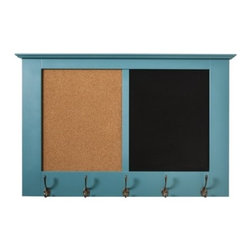 Threshold Windham Wall Rack, Teal - This multipurpose wall rack would work great in the kitchen for everything from pinning up recipes to writing notes to holding backpacks or lunch bags.