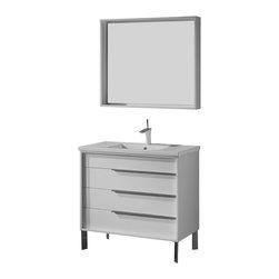 Adornus - Adornus MILANO-30-HGW-C High Gloss White Vanity - * Free standing all wood vanity