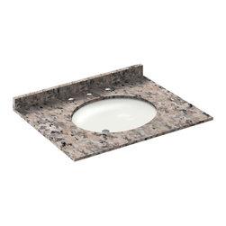 LessCare - 31x22 Burlywood Granite Vanity Countertops - 8 Faucet Spread - *Condition: New