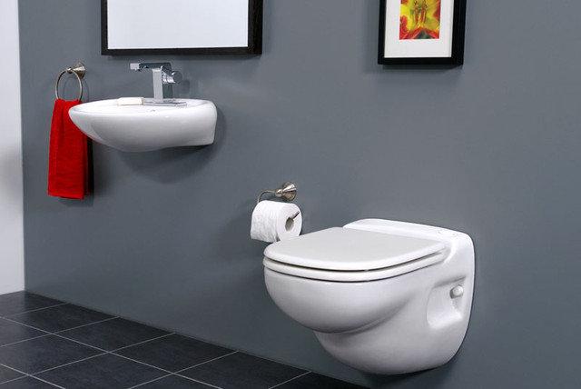 Modern Toilets Saniflo Sanistar wall hung Macerating Toilet