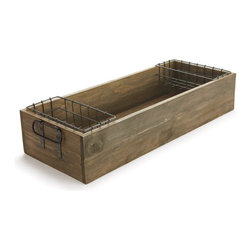 Origin Crafts - Butler's pantry tray - Butler's Pantry Tray Intended for indoors or covered porch. Items exposed to rain, sun and frost will deteriorate over time. Not warranted for outdoor use. Dimensions (in):31 x 12 x 6 By Napa Home & Garden - Napa Home & Garden is a wholesale manufacturer of distinctive home & garden decorative
