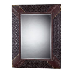 Sterling Industries - Faux Leather Framed Mirror Rectangle - Faux Leather Framed Mirror Rectangle by Sterling Industries