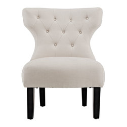 LexMod - Taft Club Chair in Beige - An elegant blending of old and new, the Taft brings to mind old English clubs and parlor rooms, but adds a modern twist, keeping this piece both forever timeless and fashionable.