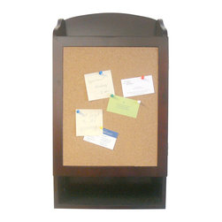 Proman Products - Proman Products Door Entry Organizer with Soft cork Message Board - Door entry organizer with soft cork message board and key holder compartment. Wood veneer in dark mahogany finish.