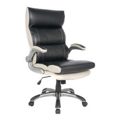 VIVA OFFICE - VIVA OFFICE® High-Back Black and Gray Bonded Leather Executive Office Chair - VIVA Office, the professional office furniture supplier, now provides a great variety of excellent office chairs including ergonomic desk chair, task chair, executive & managerial chair, and more. With the combination of global intelligence, high quality material, reliable performance, and world class ergonomic design, VIVA keeps bringing best sitting experience to customers all over the world!