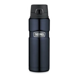 Thermos - Thermos Stainless King 24-Ounce Beverage Bottle - With stainless steel construction inside and out, this beverage bottle is unbreakable.