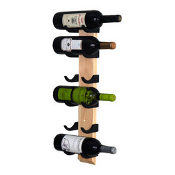 """Wine-Wall.com - Exibit-6 Wine Rack, Pine - The Exibit line of wood wine racks (availabe in 3 bottle or 6 bottle capacity) is our best selling wood wine rack. We've carefully selected each wood board to ensure a superior wood grain look. Each wine bottle sits safely within the """"saddles"""" for a handsfree view of the wine label."""
