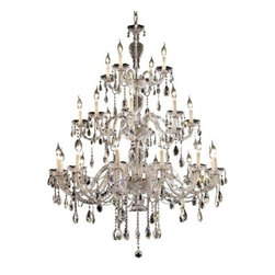 Elegant Lighting - Elegant Lighting 7829G45C Alexandria 24-Light, Three-Tier Crystal Chandelier, Fi - Elegant Lighting 7829G45C Alexandria 24-Light, Three-Tier Crystal Chandelier, Finished in Chrome with Clear CrystalsElegant Lighting 7829G45C Features: