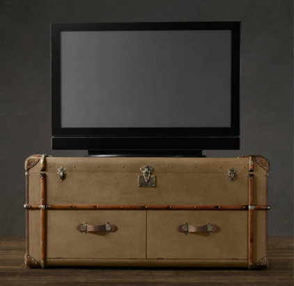 traditional media storage by Restoration Hardware