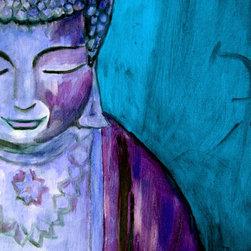 """Blue Buddha"" Buddha Art, Blue, 30 X 40 - ""Blue Buddha"" Glicee print by Gina Haining."