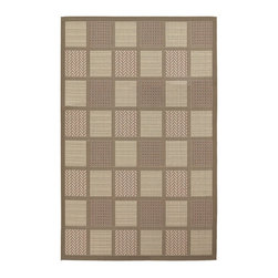 Frontgate - Acadia Outdoor Area Rug - Constructed of 100% durable polypropylene. Suitable for indoor or outdoor use. Resists fading, mold and mildew. Hose clean and dry in the sun. Add a rug pad for increased softness underfoot, better water drainage, and to help hold in place. Crafted of durable polypropylene, the charming Acadia Outdoor Rug features a traditional design ranging from graphic stripes to patterned shapes. The structured, flat-woven construction allows its style to work in both outdoor and indoor areas. .  . . . .