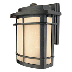 Quoizel - Quoizel GLN8409 Galen 1 Light Outdoor Wall Sconce with Umber Linen Glass - 1 Light 150 Watt Medium Outdoor Wall Fixture from the Galen CollectionA design made for classic Arts & Crafts style homes, but looks great on contemporary or modern homes as well. The finish will coordinate well and the glass provides the perfect light source for your outdoor d�cor. This collection, with its classic elements, will bring understated flair to any home.Features: