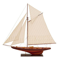 Benzara - Wood Ship For Unique Nautical Decor Blend - If you are looking for low cost but rare to find elsewhere decor item to bring extra galore that could refresh the decor appeal of short spaces on tables and shelves, beautifully carved 71590 WOOD SHIP may be a good choice.