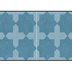 Casart coverings - Khatacross, Blue Wallcoverings, Blue, Backsplash (15 Sq. Ft.), Casart Light - Add some Marrakesh style to your home dcor with this Moroccan-inspired collection of faux tile patterns.