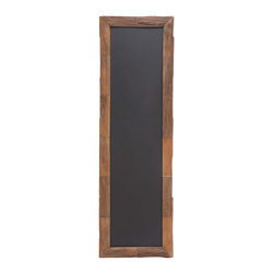 Skinny Hanging Chalkboard - Keep the kitchen in line with this handsome wood-framed chalkboard. Its narrow shape makes it perfect for an awkward corner or the back of a door.