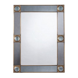 Arteriors Home - Arteriors Home Baldwin Antique Brass Mirror - Arteriors Home 2205 - Arteriors Home 2205 - The Baldwin Mirror features an antiqued mirror border with six magnifying glass discs set against antique brass details. May be hung horizontal or vertical.
