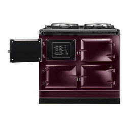 AGA Total Control Range Cooker, Aubergine | ATC3-AUB - The AGA Total Control Range Cooker is a newly designed version of the classic icon of British cooking. Three radiant-heat cast iron ovens and two hotplates give you 10 delicious ways to cook in one range.