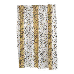 """""""Hailey"""" Fabric Shower Curtain - """"Hailey"""" Fabric shower curtain, 100% polyester, size 70""""x72"""". Our """"Hailey"""" Shower Curtain's exotic animal print pattern is sure to make your bathroom sizzle. This standard-sized (70'' wide x 72'' long) curtain is 100% polyester, machine washable, and water resistant. For those with varying size needs, """"Hailey"""" comes in extra long and extra wide. Also available separately is the coordinating """"Hailey"""" window curtain.  Machine wash in warm water, tumble dry, low, light iron as needed"""