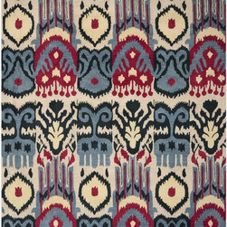 Safavieh - Safavieh Ikat Rug with Beige / Blue X-8-A664TKI - The Ikat collection comprises of transitional design and made with a thick, dense wool pile in India. This hand tufted rug is Inspired by Ikat patterns made with today's modern colors.