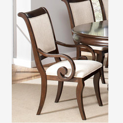 Coaster 2 Formal Rich Cherry Wood Side Chairs Fabric Seat Back 104112 - Features