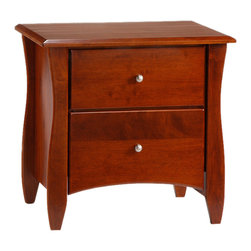 Night And Day Furniture - Night And Day Furniture Clove 2 Drawer Night Stand In Cherry Finish - Our Clove Nightstand is a cute and very useful accessory for your bedside. With its two spacious drawers and its attractive detailing it is a good match for all our Spices Bed models. The Clove Nightstand is an essential piece of your bedroom group. Do not forget to take two.