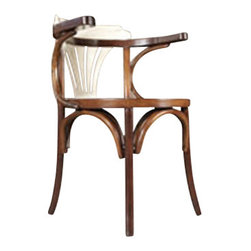 "Authentic Models - Authentic Models Ivory and Honey Wooden Navy Chair - The Authentic Models Ivory and Honey Wooden Navy Chair will survive a students dorm room,and decorate a livingroom, or even better..serve as a desk and dinning room chair!                   * Dimensions: 21.75"" x 23.5' x 38.35"