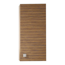 Avanity - Knox 18 in. Wall Cabinet - Give your powder room an exotic edge with this wall cabinet. It's made of zebrawood that imparts a subtle striped pattern for lots of visual interest. But it'll appeal to your practical side, too, as it offers up plenty of concealed storage.