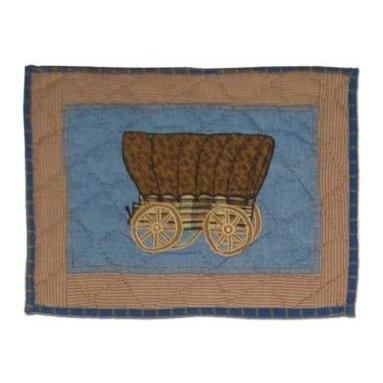 Patch Magic - Cowboy Crib Toss Pillow - 16 in. W x 12 in. LHandmade, Hand quilted Crib Toss Pillow made from 100% Cotton. Machine washable, but for best care hand wash in cold water. Do not machine dry. Do not dry clean.