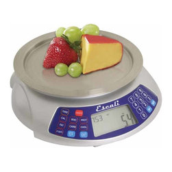 Escali - Escali Digital Scale Cibo - Keep track of all your dietary needs with this smart scale that makes all the measuring work that much easier. Designed to accommodate one item or several items, this scale measures not only the weight of your food, but also measures the nutritional value of your food.