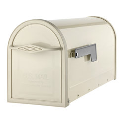 Architectural Mailboxes Metal Sand Post Mailbox - Designed for post-mount installations, the mailbox's front handle adds modern Southwest flair to your curb.