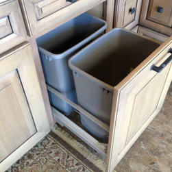 Cool Cabinet Features - Trash can pull put