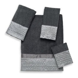 Avanti - Avanti Lexington Bath Towel in Granite - The Lexington Granite Bath Collection brings contemporary sophistication to your morning routine. Bath Towel features a rich grey colored background with a luminous silver fabric border that adds a subtle glimmer and luxurious feel to your bathroom.